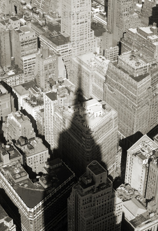 Skuggan av Empire State Building i New York, USA