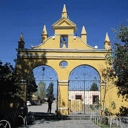 Kyrkoport i Choula, Mexico