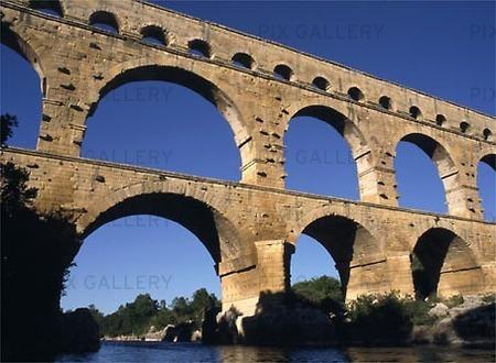 Akvedukt vid Pont Du Gare, Frankrike
