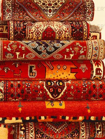 Äkta mattor i mattaffär