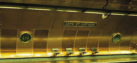 Tunnelbanestation i Paris, Frankrike