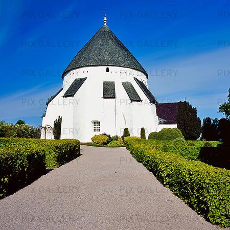 Österlars rundkyrka på Bornholm, Danmark