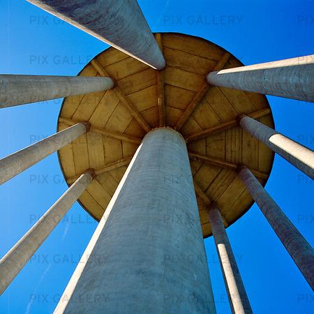 Detalj av vattentornet i Ystad, Skåne