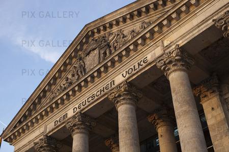 Der Reichstag i Berlin, Tyskland
