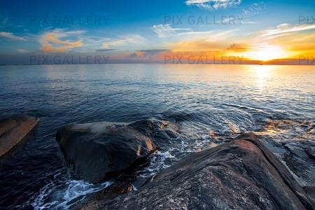 Solnedgång på västkusten