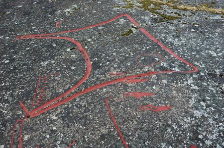 Stora Rickebyhällen hällristning, Uppland