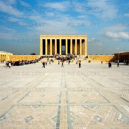 Ataturks Mausoleum i Ankara, Turkiet