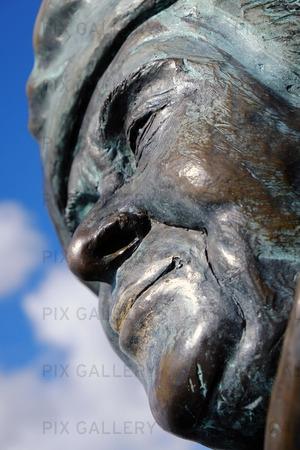 Detaljbild av Staty Evert Taube, Göteborg