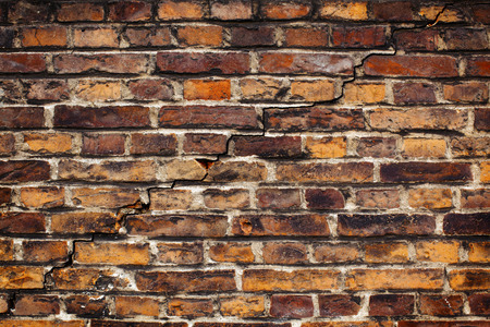 Gammal tegel vägg