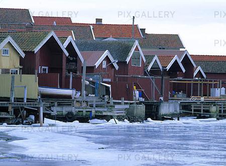 Vinter vid Hälleviksstrand, Bohuslän