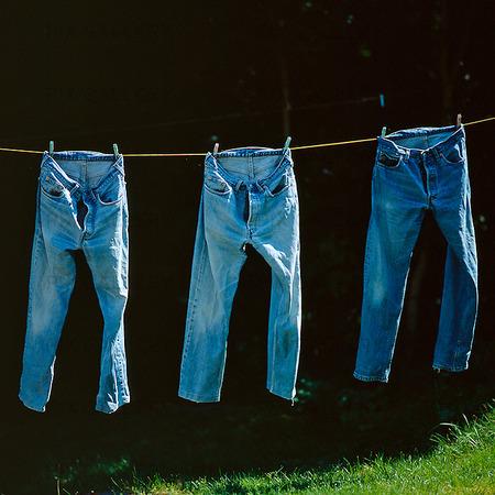 Jeans på tork