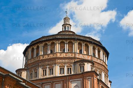 Kyrkan Santa Maria della Grazie i Milano