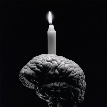 Stearinljus på hjärna