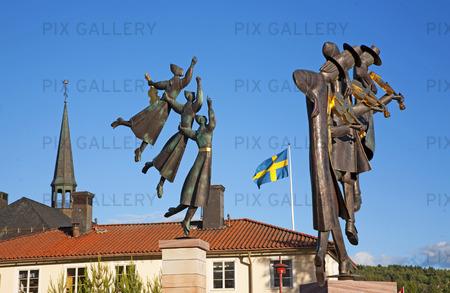 Skulpturer vid Rättviks stadshus, Dalarna