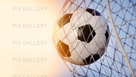 Fotboll i mål