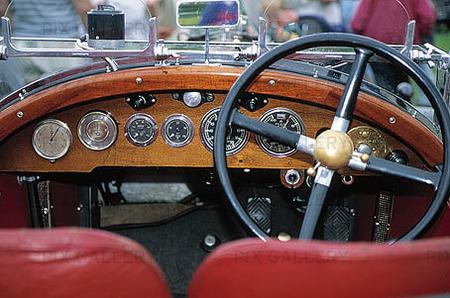 Instrumentpanel, Bugatti veteranbil
