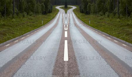 Landsväg, manupulerad bild