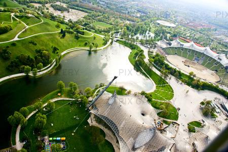 Olympiaområdet i München, Tyskland