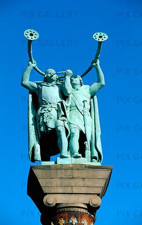 Staty på Rådhusplatsen i Köpenhamn, Danmark