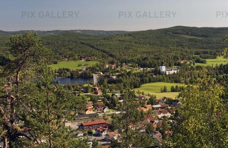 Utsikt från Öjeberget, Järvsö, Hälsingland