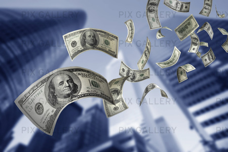Fallande dollar i New York City