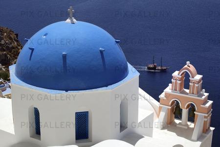 Kyrka på Santorini, Grekland