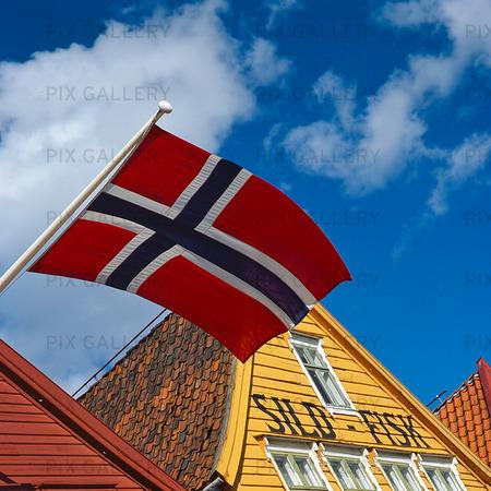 Bryggen i Bergen, Norge