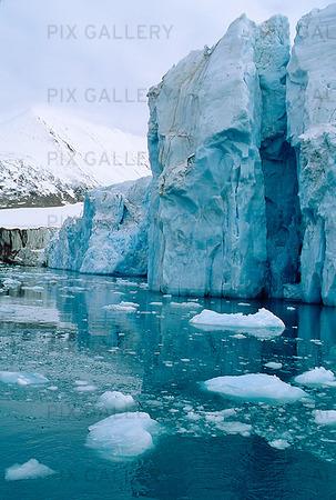 Magdalenefjorden på Svalbard, Norge