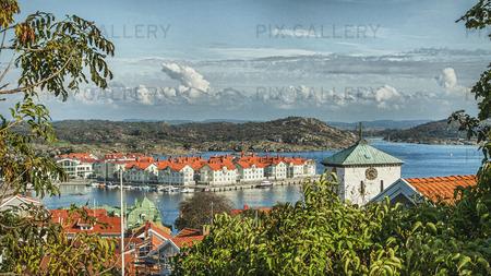 Vy från Marstrand, Bohuslän