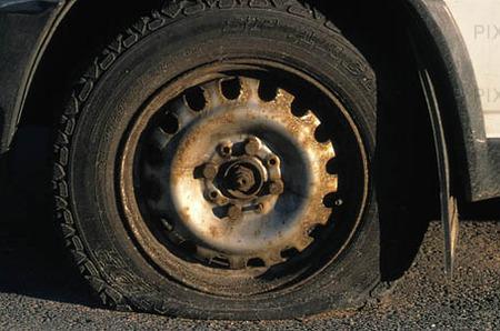Punktering på däck