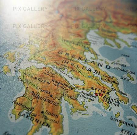 Karta över Grekland
