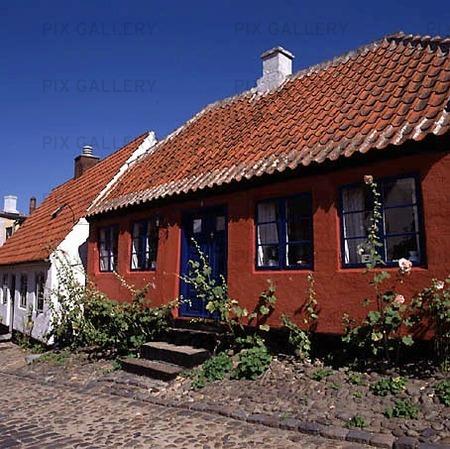 Hus i Ebeltoft, Danmark