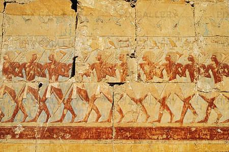 Detalj i Hatshepsut tempel, Egypten