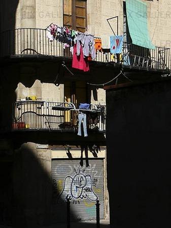 Balkonger i Barcelona, Spanien