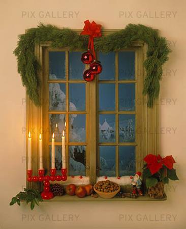 juldekorationer till fönster