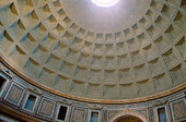 Interiör Kyrkan The Pantheon i Rom, Italien