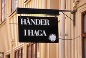 Skylt i Haga, Göteborg