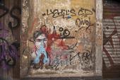 Graffiti i Catania på Sicilien, Italien