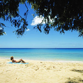 Kvinna på stand, Barbados