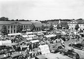 Stortorget i Kungsbacka 1950, Halland