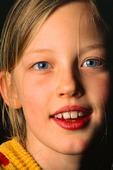 Porträtt av flicka