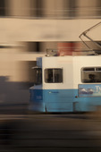 Spårvagn i rörelse
