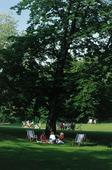 Människor i park