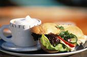 Kaffe och smörgås