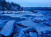 Vinter vid Tännforsen, Jämtland