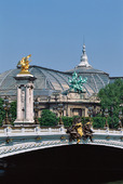 Pont Alexandre III bågbro i Paris, Frankrike