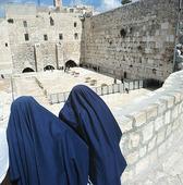 Beduinkvinnor vid klagomuren, Israel