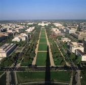 Vy över Washington DC, USA