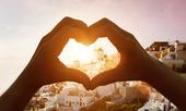 Hjärttecken i Santorini, Grekland