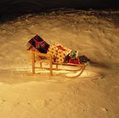 Julklappar på kälke